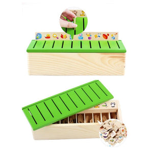 Mathematical Knowledge Classification Toys Wooden Cognitive Matching Box Wooden Toys Early Educational Toys Montessori Toys-Wooden Toy-thegsnd-thegsnd