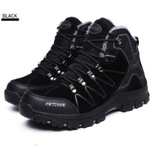 Load image into Gallery viewer, Men Hiking Shoes Waterproof Leather Shoes Climbing & Fishing Shoes New Popular Outdoor Shoes Men High Top Winter Boots - thegsnd