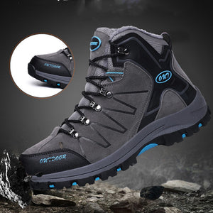 Men Hiking Shoes Waterproof Leather Shoes Climbing & Fishing Shoes New Popular Outdoor Shoes Men High Top Winter Boots - thegsnd