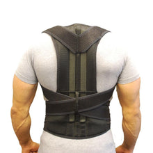 Load image into Gallery viewer, Men Posture Corrector Orthopedic Shoulder Pain Lumbar Corset Back Brace Belt Straps Adjustment Male Belt Therapy Posture - thegsnd