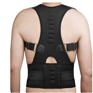 Men Women Magnetic Belt Orthopedic Magnetic Therapy Corset Back Posture Corrector Shoulder Back Support Posture Correction - thegsnd