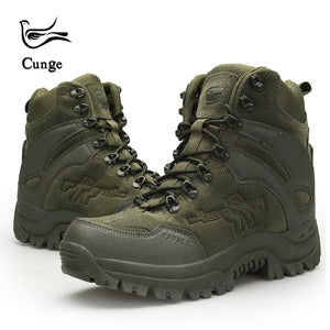 Men's Outdoor Hiking Shoes Military Army Tactical Combat Shoes Boots Anti-slip Anti-collision Trekking Shoes 4 Colors - thegsnd