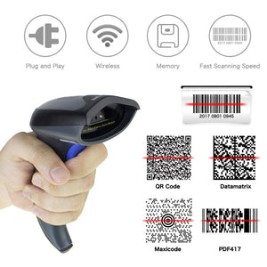 Milestone MHT-W8 2D Wireless QR Barcode Scanner PDF417 Bar Code Reader Wireless CCD 2.4GHz for Mobile Payment Screen - thegsnd