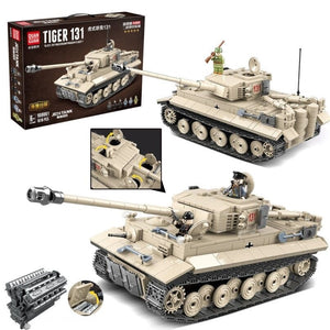 Military German King Tiger 131 Tank Building Blocks WW2 Army Soldier Weapon 1018 Pcs Bricks Kits Education Toys for Boys Gifts - thegsnd
