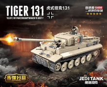 Load image into Gallery viewer, Military German King Tiger 131 Tank Building Blocks WW2 Army Soldier Weapon 1018 Pcs Bricks Kits Education Toys for Boys Gifts - thegsnd