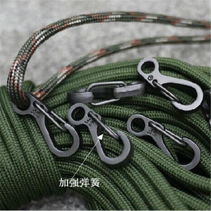 Mini Alloy Buckle (100 pcs) 2.5cm Hanging Hook Carabiners Outdoor Equipment Hiking Buckle EDC Tool - thegsnd