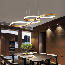 Load image into Gallery viewer, Modern LED Pendant Lamp Black/White Nordic Hanging Light Creative Note Pendant Light for Bar Table Kitchen Island Dining Room - thegsnd