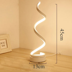Modern LED Table Lamp Bedroom Reading Desk Light Bedside Lamp Study Eye Protect US/EU Plug Dimable - thegsnd
