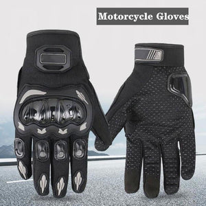 Motorcycle Gloves Racing Sporst Anti-skid Screen Touch Shocking Impact-proof Breathable Cloth 3 Colors Protective Riding Gloves - thegsnd