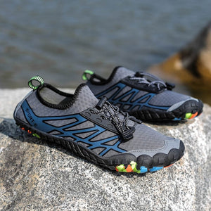 Multifunction Men Hiking Shoes Non-slip Wear Air Sneakers Trekking Climbing Shoes Men Quick-dry Fivefingers Couple Water Shoes - thegsnd
