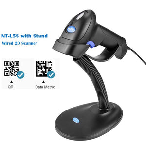 NETUM L8 Wireless 2D Barcode Scanner and L5 Wired 1D/2D QR Bar Code Reader PDF417 for Inventory POS Terminal - thegsnd