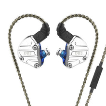 Load image into Gallery viewer, NICEHCK DB3 1BA+2DD Hybrid 3 Driver Units In Ear Earphone Monitor Running Sport Earphone HIFI Headset Earbud IEM DJ Stage 2Pin - thegsnd