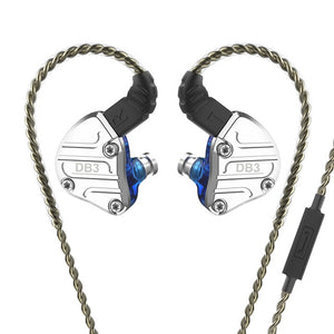 NICEHCK DB3 1BA+2DD Hybrid 3 Driver Units In Ear Earphone Monitor Running Sport Earphone HIFI Headset Earbud IEM DJ Stage 2Pin - thegsnd