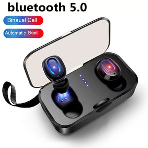 New 2Pcs/Set Ti8s TWS bluetooth Earphones Ear buds Wireless BT 5.0 Stereo Headset with Mic for pods for iphone xiaomi - thegsnd