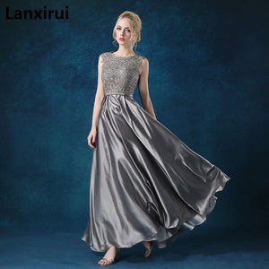 New Arrival Red Blue Pink Purple Floor Length Lady Girl Women Princess Bridesmaid Banquet Party Ball Dress Gown Fast Shipping - thegsnd