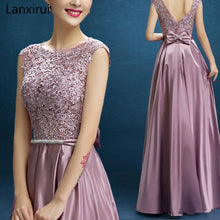 Load image into Gallery viewer, New Arrival Red Blue Pink Purple Floor Length Lady Girl Women Princess Bridesmaid Banquet Party Ball Dress Gown Fast Shipping - thegsnd