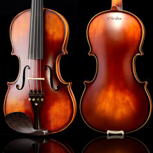 Load image into Gallery viewer, New Christina E02 Maple Violin 4/4 for beginner use musical instruments,handmade ebony violin parts,with fiddle case,bow,rosin - thegsnd