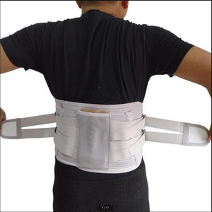 New Elastic Adjustable Orthopedic Posture Corrector Brace Lower Back Waist Trimmer Belt Metal Straps Lumbar Support Belt Corset - thegsnd