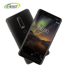 Load image into Gallery viewer, Nokia 6 Second generation 2nd TA-1054 Mobile phone 5.5'' 16.0MP 3000mAh 4GB 64GB Snapdragon 630 Octa core Android Smartphone - thegsnd