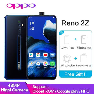 OPPO Reno2 Z 8GB 128GB Support Google Play Global ROM NFC 10x Zoom 48MP 4 Camera  VOOC 3.0 Mobile phone reno 2 Z Smartphone - thegsnd