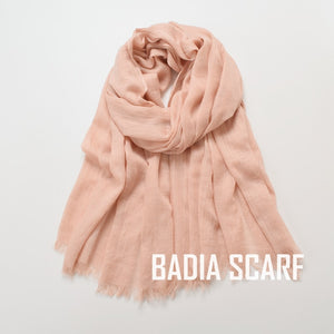 One piece high quality women muslim plain frayed scarf hijab shawls wraps headwear crinkle solid oversize pashmina hijabs-Women - Accessories - Scarves-thegsnd