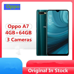 "Oppo A7 4G LTE Smart Phone Snapdragon 450 Android 8.1 6.2"" Dropwater Full Screen 16.0MP+13.0MP+2.0MP 4230Mah 4GB RAM 64GB ROM - thegsnd"