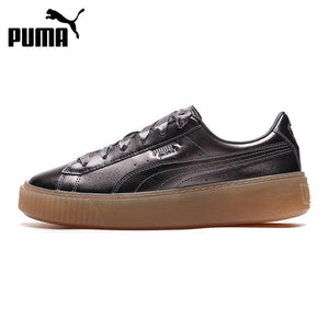 Original New Arrival 2018 PUMA BASKET PLATFORM LUXE Women's Skateboarding Shoes Sneakers - thegsnd