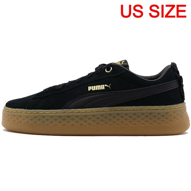 Original New Arrival  PUMA Smash Platform Frill Women's  Skateboarding Shoes Sneakers - thegsnd