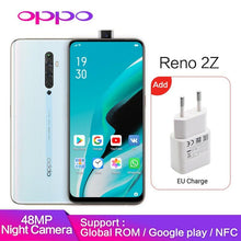 Load image into Gallery viewer, Original OPPO Reno 2 Z 8GB 128GB reno2Z Support Google Play Global ROM NFC 10x Zoom 48MP 4 Camera VOOC Mobile phone Z Smartphone - thegsnd