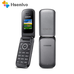 Original Samsung E1190 GSM 1.43 Inches 800mAh Mini-SIM Black Only Refurbished Cellphone Unlocked Old Flip Mobile Phone - thegsnd
