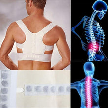 Load image into Gallery viewer, Orthopedic Back Support Belt Correct Posture Brace Correcteur de Posture 12 Magnets Magnetic Posture Corrector Men  XL XXL - thegsnd