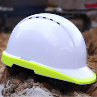 Outdoor Breathable Safety Helmet Work Cap Fluorescent Hard Hat Construction Protective Helmets Labor Engineering Helmet - thegsnd