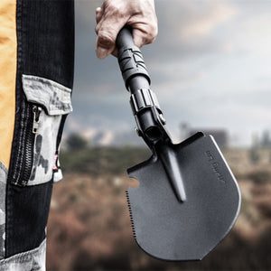 Outdoor Camping Shovels Mini Multifunctional Folding Tool High Hardness Alloy Steel Shovel For Hiking Climbing Fishing Equipment - thegsnd