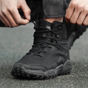 Outdoor Camping Waterproof Wearproof Hiking Shoe Men Climbing Hunting Lightweight Breathable Army Tactical Training Combat Boots - thegsnd