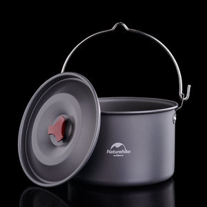 Outdoor Cookware Cooking Bowl Pot Stove Set Portable Hanging Pot Camping Hiking Picnic durable practical cooking tool - thegsnd