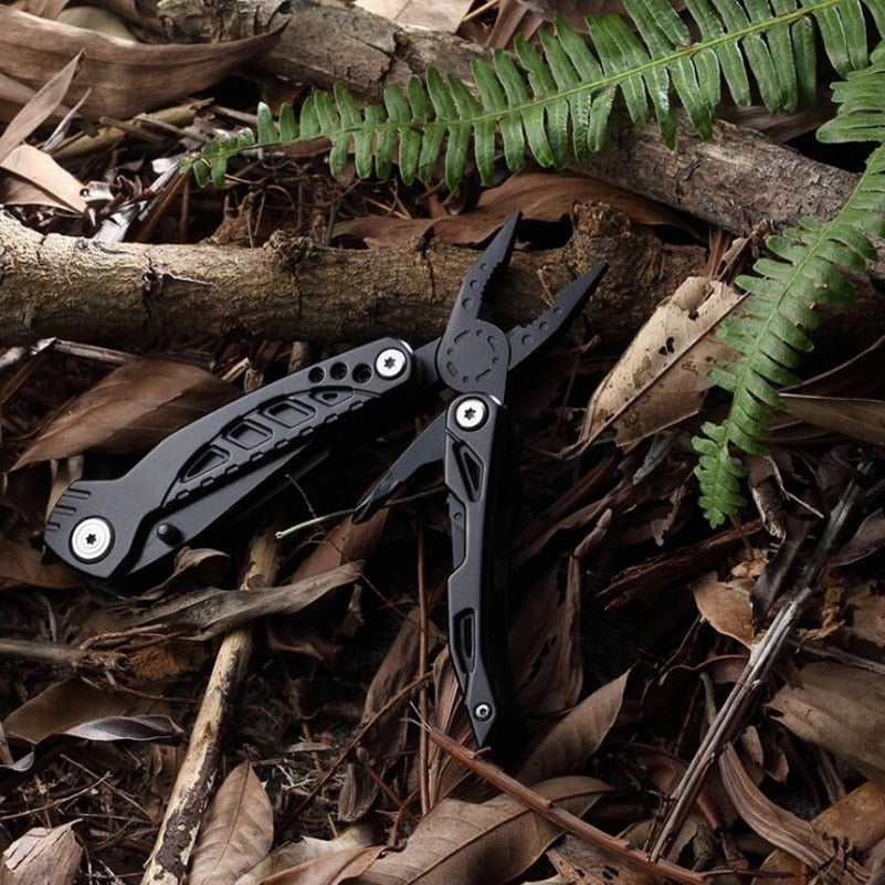 Outdoor EDC stainless steel multi-tool. Portable outdoor hiking camping portable tool set multi-function folding knife - thegsnd
