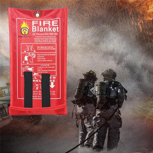 Outdoor Fire-fighting Survival Portable Gadget Fiberglass Blanket Emergency Survival Military Blanket Ultra-utility Indoor - thegsnd