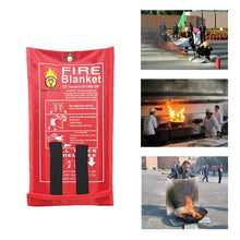 Load image into Gallery viewer, Outdoor Fire-fighting Survival Portable Gadget Fiberglass Blanket Emergency Survival Military Blanket Ultra-utility Indoor - thegsnd