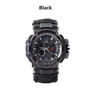 Outdoor Survival Watch Multifunctional Waterproof Military Tactical Paracord Watch Bracelet Camping Hiking Emergency Gear EDC - thegsnd