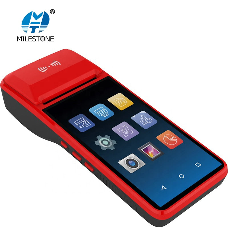 Pos Systemterminal Android Pda Phone With Wifi 4g Thermal Bluetooth Printer 5