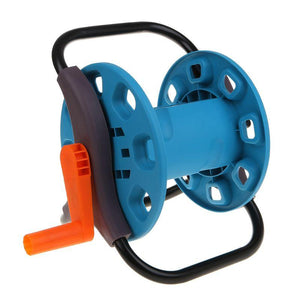 Portable Garden 25M Water Hose Reel Cart Storage Rack Holder Winding Waterpipe Bracket Shaking Tools - thegsnd