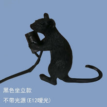 Load image into Gallery viewer, Postmodern  Resin Animal Rat Mouse Table Lamp Small Mini Mouse Cute LED Night Lights Home Decor Desk Lights Bedside Lamp - thegsnd