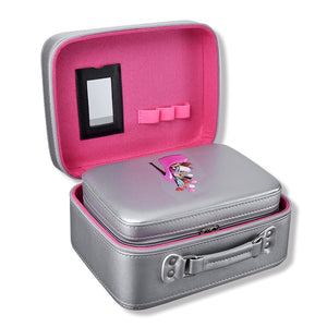 Professional 2pcs/set Make Up Tool Kit Portable Large Capacity Cosmetic Box Empty Makeup Set for Women Travel Boxes - thegsnd