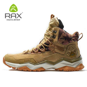 RAX Men New Outdoor Hiking Boots Genuine Leather Sports Shoes Waterproof Hiking Shoes Anti-Slip Mountain Boots 63-5B370 - thegsnd