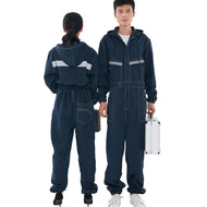 Reflective Denim Work uniform Flame retardant welding clothes Jumpsuit Coveralls Overalls Auto Repairman Machine electric welder - thegsnd