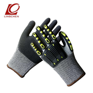 Riding Impact Gloves Outdoor Sports Bike Motorbike Cycling Glove Full Finger Mittens Collision Avoidance Level 5 Cut-proof - thegsnd