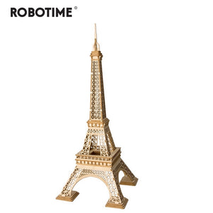 Robotime DIY 3D Wooden Pairs Tower Puzzle Game Gift&Ornament for Children Kid Friend Model Building Kits Popular Toy TG501 - thegsnd