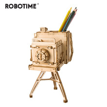 Load image into Gallery viewer, Robotime DIY 3D Wooden Vintage Camera Puzzle Game Penholder&Gift for Children Kid Friend Popular Toy TG403-Wooden Toy-thegsnd-Vintage Camera-China-thegsnd