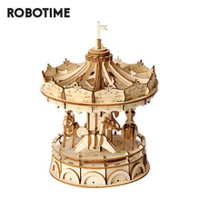 Load image into Gallery viewer, Robotime DIY Merry Go Round Toys 3D Wooden Puzzle Toy Assembly Model Wood Craft Kits Desk Decoration for Children Kids TG404-Wooden Toy-thegsnd-China-thegsnd