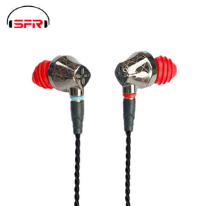 SENFER DT6 1BA+1DD Hybrid In Ear Earphone HIFI DJ Running Sports Earplug Earbuds With Mic Detachable MMCX Cable X6 PT25 DT8 T2 - thegsnd